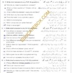 Past Paper Class 10 Chemistry Lahore 2015 Subjective Type Group 2 - Page 1