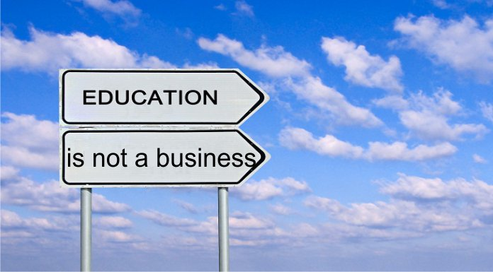 Education Is Not A Business, Eduation is not for sale