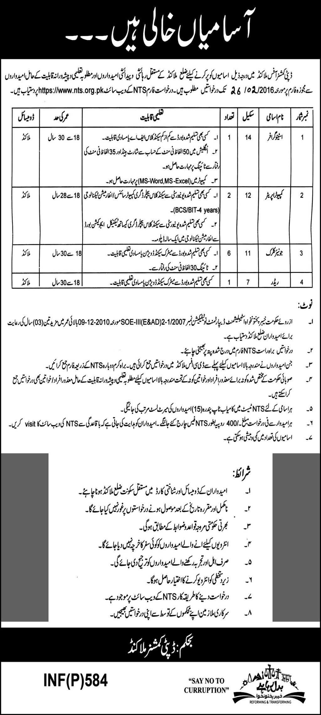2016-02-26-Jobs-in-Office-of-the-Deputy-Commissioner-Malakand