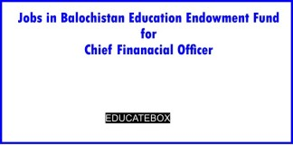 Jobs in Balochistan Education Endowment Fund for Chief Finanacial Officer
