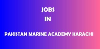 Jobs in Pakistan Marine Academy Karachi