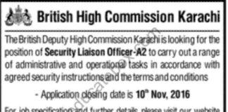 Jobs in British High Commission Karachi