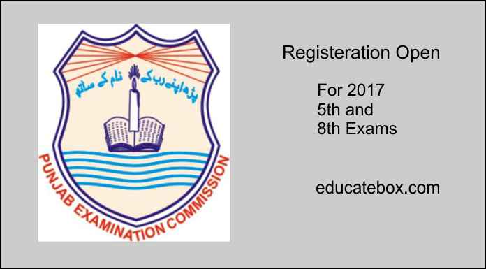 2017 Annual Examinations for 5th & 8th Classes – Registration Open