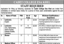 Jobs in Cadet College Esa Khel