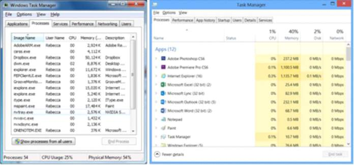 close extra programs in the task manager