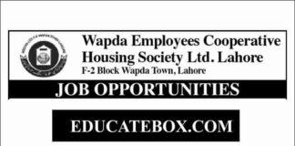 Jobs in Wapda Employees Cooperative Housing Society