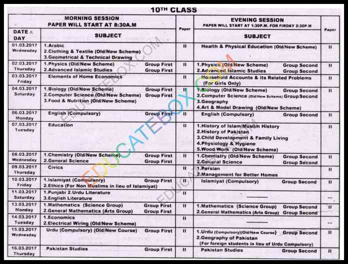 Urdu essays for class 10th datesheet