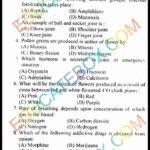Past Paper 10th Class Biology Lahore Board 2014 English Medium Group 2 Objective Type
