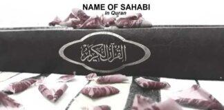 Sahabi Name Mentioned in Quran - Names of Sahaba in Quran