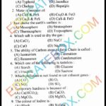 Past Paper 10th Class Chemistry Lahore Board 2014 English Medium Group1 - Objective Type - Page 1