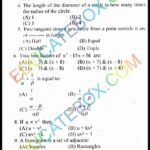 Past Paper Class 10 Maths (Science Group) Lahore Board 2014 Objective Type Group 1 (English Medium)