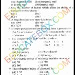 Past Paper 10th Class Physics Lahore Board 2014 English Medium Group 1 - Objective Type
