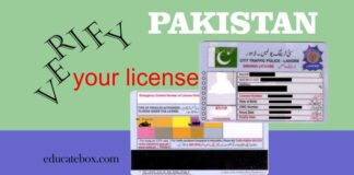 driving licence verification pakistan - driving licence check pakistan