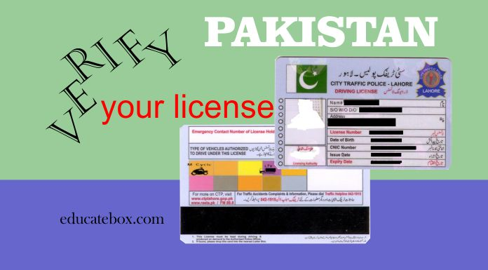 Driving Licence Verification in Pakistan – Check Online License Status