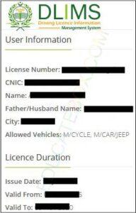 punjab driving licence status