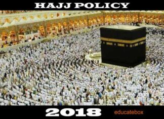 Government of Pakistan Announced Hajj Policy 2018