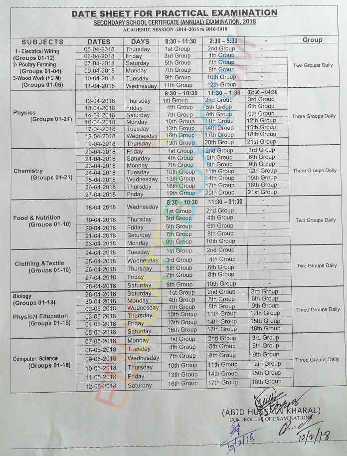 9th-10th-practical-Date-Sheet-2018-Rawalpindi-Board-Matric-exams