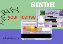 Driving License Verification Sindh