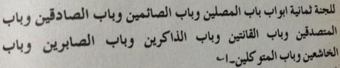 8 Gates of Jannah in Hadees