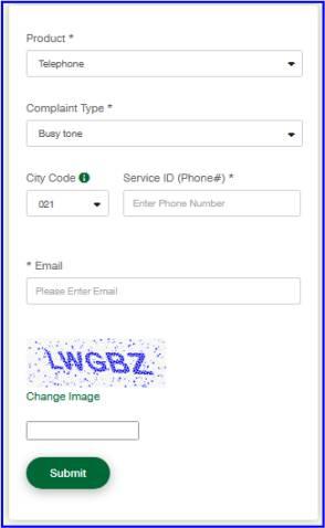 PTCL Complaint Register Online