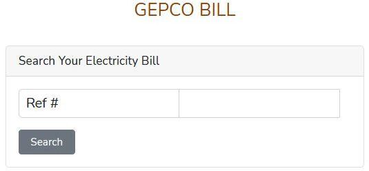 Gepco Online Bill Check & View  gapco bill