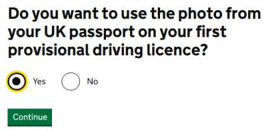 Do you want photo in your first uk provisional licence?