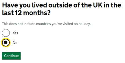 have you lived outside uk in last year?
