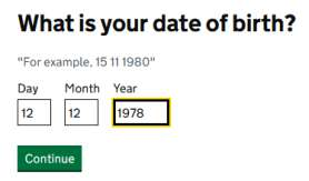 Your date of Birth