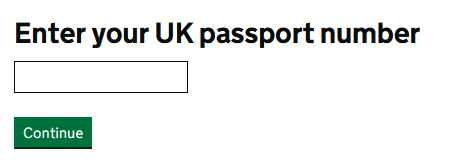 enter your passport number.